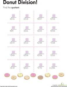 donut division problems worksheet education com