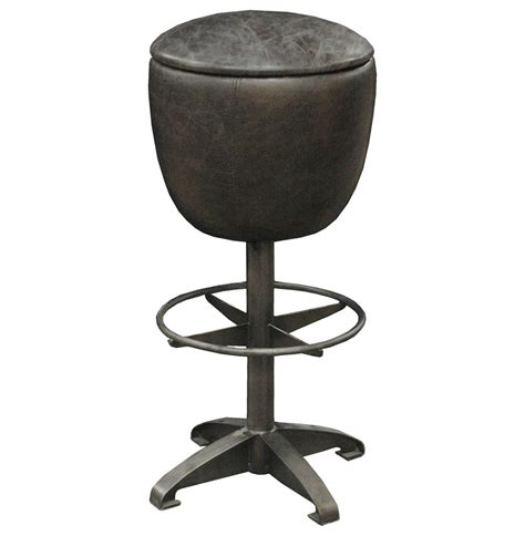 mexican bar stools leather clyde rustic retro distressed top grain leather black
