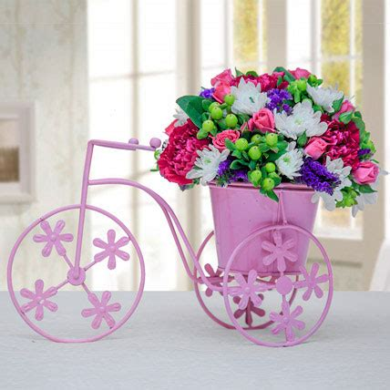 Pink Cycle send floral pink cycle in uae at affordable price