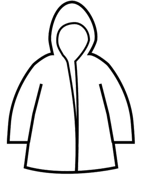best photos of coat coloring page template winter jacket
