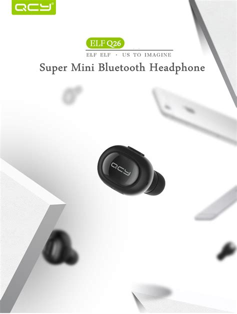 Qcy Q12 Mini Smart Bluetooth Headset 1 qcy mini bluetooth 4 1 headset black