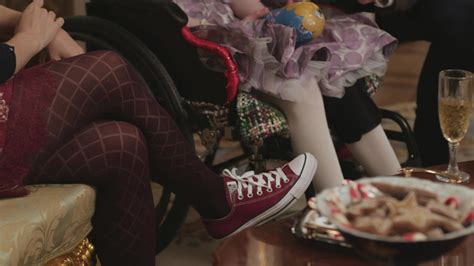 converse shoes worn  rose mciver   christmas prince