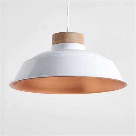 Copper Pendant Lighting Oslo White And Copper Pendant Light By Horsfall Wright Notonthehighstreet