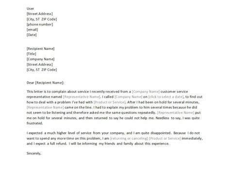 Complaint Letter About Bad Complaint Letter Regarding Bad Customer Service Docoments Ojazlink