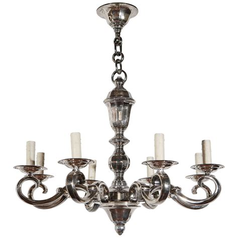 Silver Chandelier Silver Plated Georgian Chandelier At 1stdibs