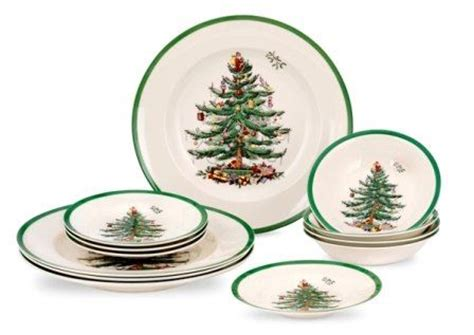 spode christmas tree 12 piece set dinner side plate
