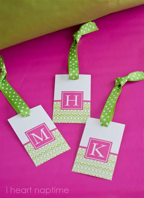 printable monogram tags printable luggage tags