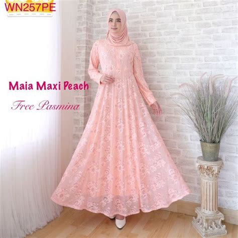 Brokat Maxy baju muslim modern maia brokat butik jingga