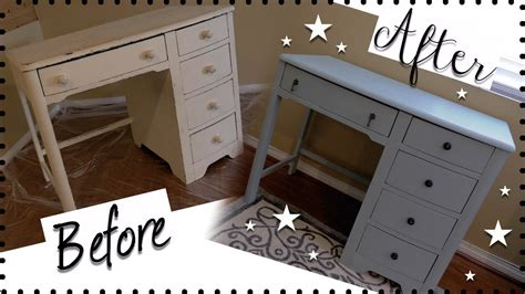 how to paint a desk diy vintage desk makeover how to chalk paint furniture