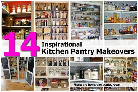 Kitchen Pantry Makeover by 14 Inspirational Kitchen Pantry Makeovers