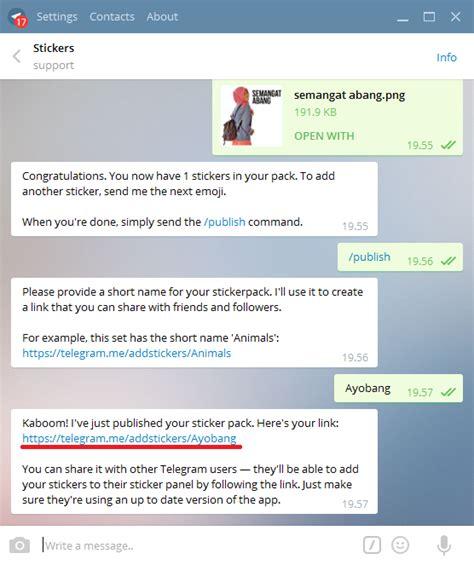 cara membuat sticker line android cara mudah membuat sticker telegram android sendiri