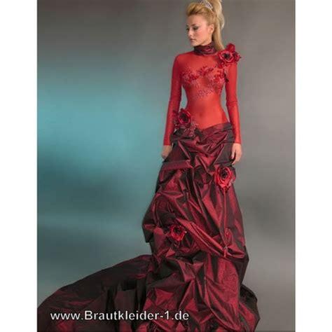 hochzeitskleid rot brautkleid rot kurz