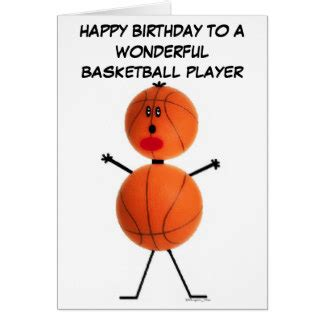 Basketball Birthday Cards Funny Basketball Birthday Cards Zazzle