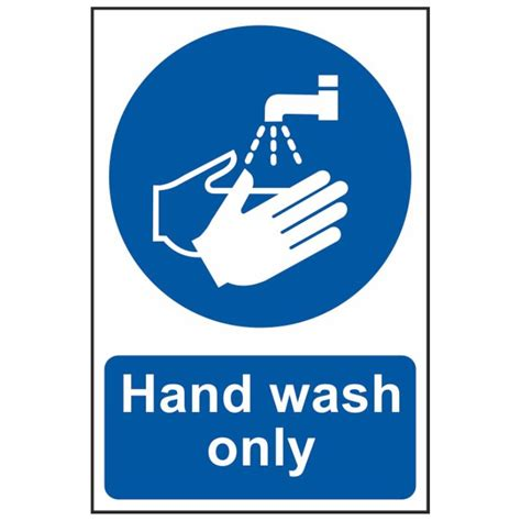 3 Door Garage by Hand Wash Only Sign Hygiene Amp Food Prep Signs