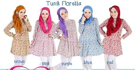Tunik Elif Te 2 Blus Atasan Muslim baju muslim model terbaru 2018 baju atasan tunik cantik floretta florania