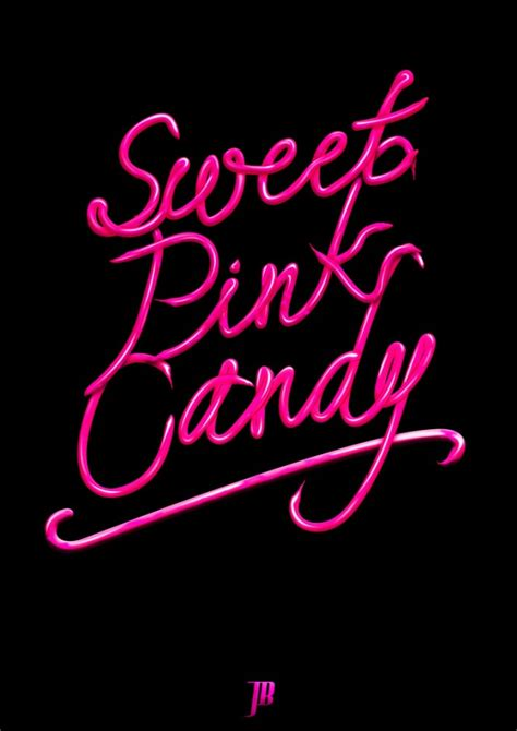 candy typography designs  inspiration creatives wall