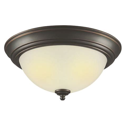 oil rubbed hton bay 2 light outdoor oil rubbed bronze flushmount
