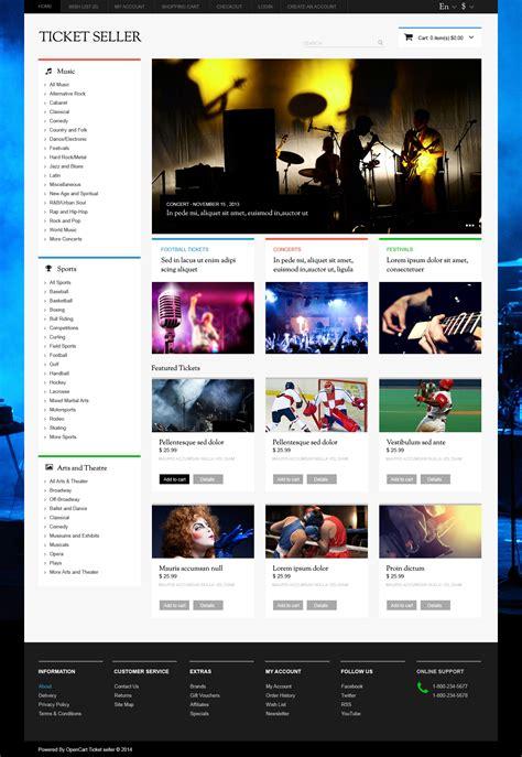 Template Vorlage Joomla Opencart Vorlage 47718 F 252 R Eintrittskarten Website