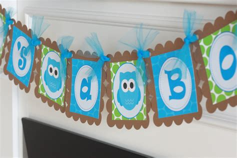 Owl Baby Shower Decorations For Boy by Boy Owl Baby Shower Decorations Bloggerluv