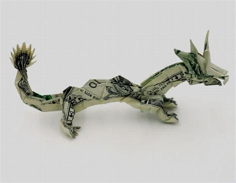 Single Dollar Bill Origami - money origami