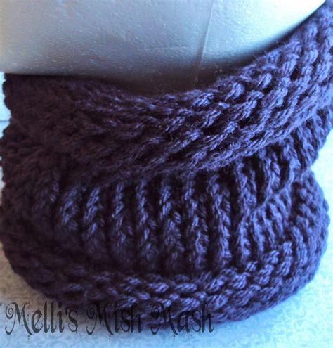 knitting loom cowl infinity scarf cowl tutorial
