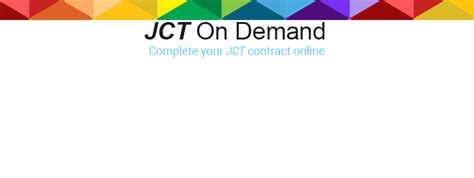 jct design and build contract db the joint contracts tribunal jct