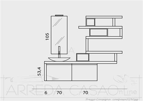 mobile bagno misure mobile bagno sospeso mensole su misura go12 ebay