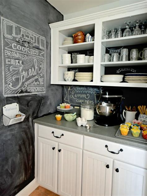 how to make a backsplash in your kitchen how to create a chalkboard kitchen backsplash hgtv