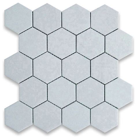 thassos white 3 inch hexagon mosaic tile honed marble