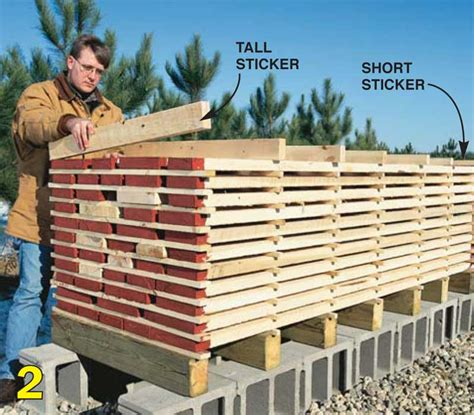 drying wood for woodworking image gallery lumber stickering