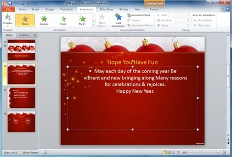 animated card powerpoint template how to make animated happy new year cards in powerpoint