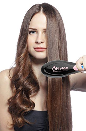 agave straightening black woman review nylea hair straightener brush best electric ceramic