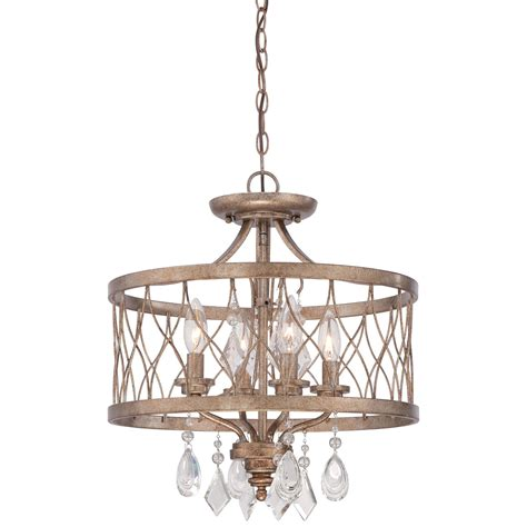 Gold Drum Chandelier Minka Lavery West Liberty Olympus Gold 16 Inch Four Light Convertible Drum Pendant On Sale