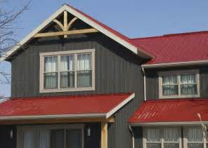 metal roof house color combinations century rib agway metals inc