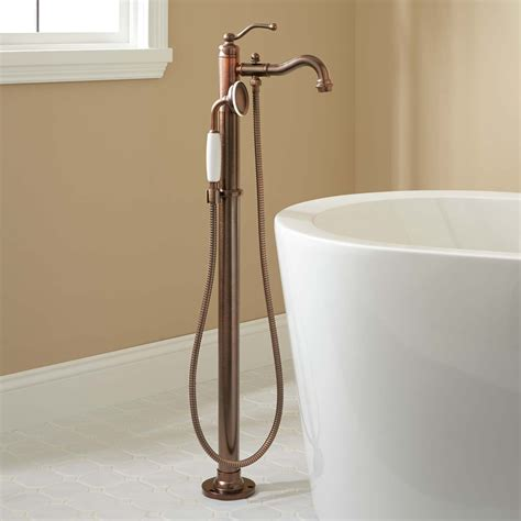 bathtub faucets with hand shower leta freestanding tub faucet with hand shower bathroom
