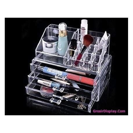 display akrilik rak kosmetik 3 laci tempat lipstik make up