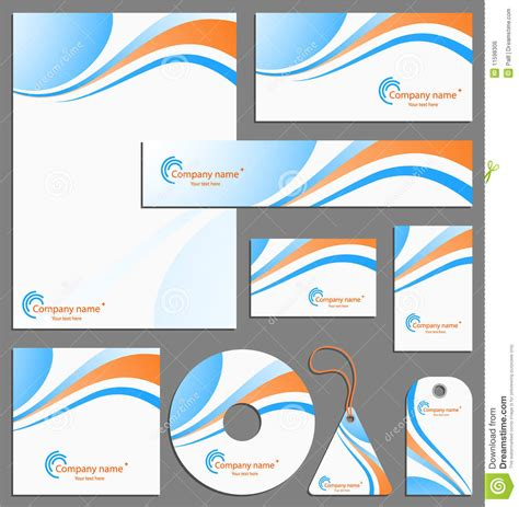 free download stationary layout design vector letterhead template design stock vector illustration of