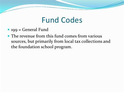 code section 199 the account code structure for texas principals