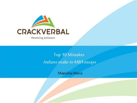 Mba Mistakes To Avoid by Top 10 Mistakes To Avoid On Your Mba Applications