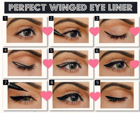 how to do cheer hair step by step perfect winged eyeliner home and eyeliner on pinterest
