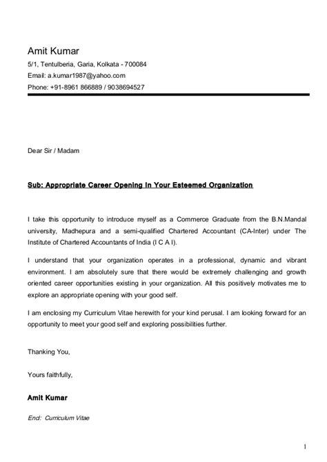 termination letter format for articleship amit cv ca inter with cover letter