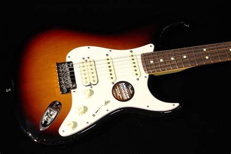 fender american standard stratocaster hss 3 color sunburst gino guitars