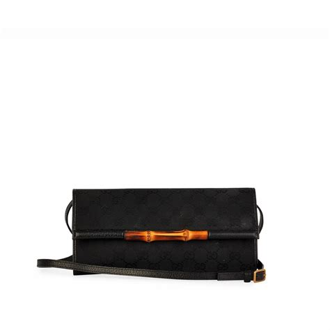 Promo Gucci Bambo 296 gucci gg bamboo clutch baguette black luxity