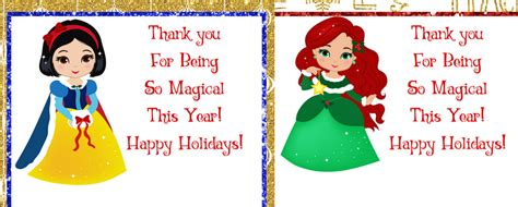 Holiday Gift Card Holders Printable - holiday princess printable gift card holders for kids