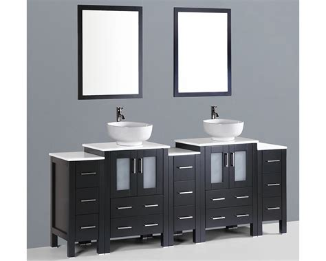 Rounded Bathroom Vanity 84in Sink Vanity By Bosconi Boab224ro3s