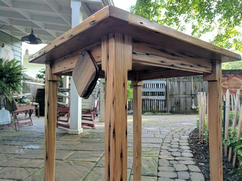 Lancaster Pouch reclaimed timber porch table by lancaster pouch simplecove