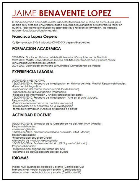 Modelo Curriculum Vitae Academico Modelo De Cv Con Ano Sabatico Muestra Curriculum Vitae