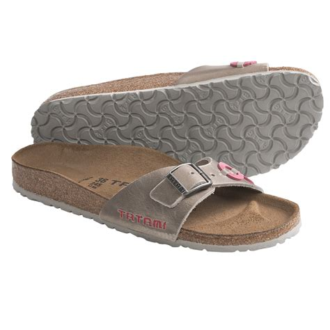 tatami sandals tatami by birkenstock madrid applique sandals leather