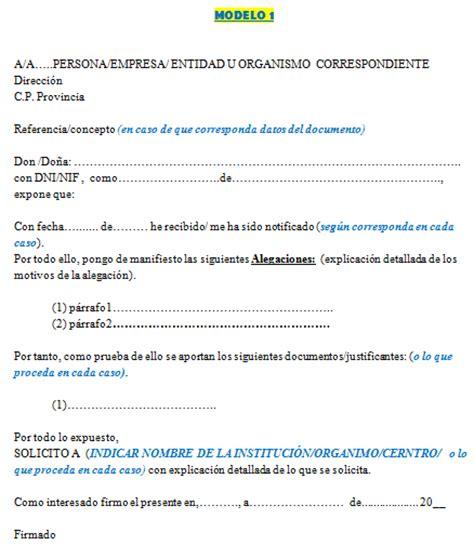 Modelo Curriculum Sepe Modelo Alegaciones N1