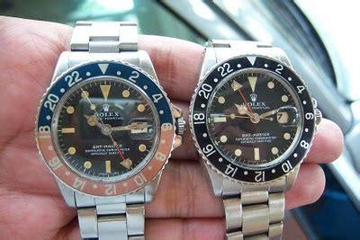 Ciri Ciri Jam Tangan Emas jam tangan kuno rolex gmt master ref 1675 produksi 1968